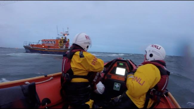 Pwllheli lifeboats during the search. Picture: RNLI