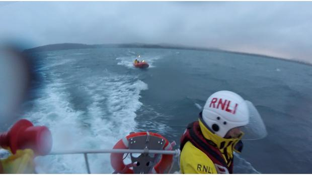 North Wales Chronicle: Pwllheli lifeboats during the search. Picture: RNLI