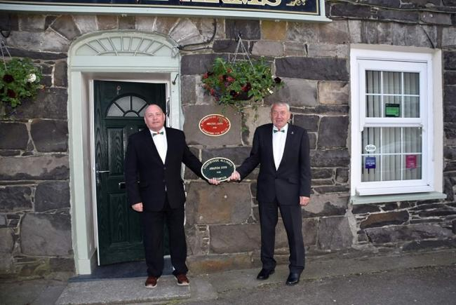 The two award plaques at Iorwerth Arms. PICTURE: Wynne Evans.
