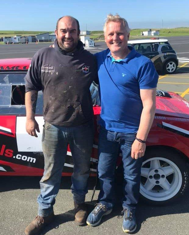 Former Formula One star Johnny Herbert at Anglesey Circuit