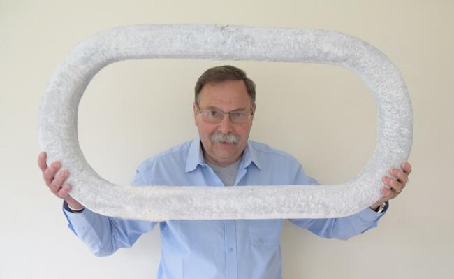 David Bower with his sculptor 'Chain'