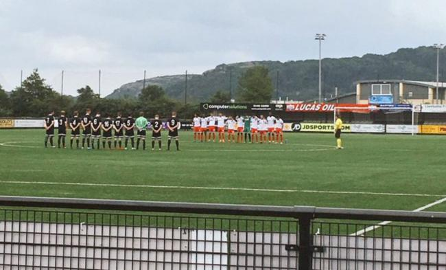 A minute's silence was held for Gwyn Pierce Owen prior to Llandudno Albion's friendly clash with Bangor City