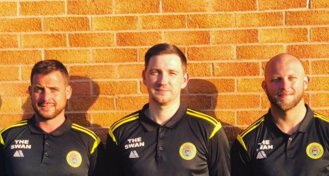 Daniel Brewerton (centre) with the St Asaph City management team