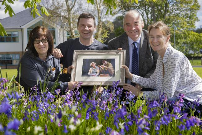 Pendine Park, Bryn Seiont Newydd, Caernarfon;  Pictured are Olwen Williams and Carl Owen from Fran Wen With Gwynfor Jones and Nia Davies Williams.