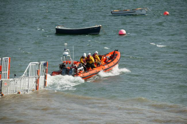 Beaumaris lifeboat being launched. Picture: RNLI