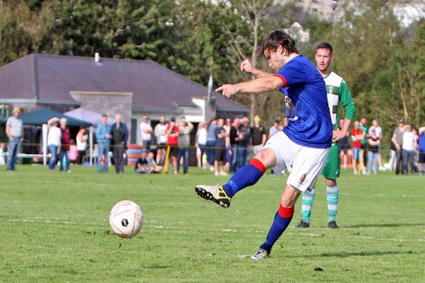 Jamie Petrie has netted almost 50 goals for Bangor 1876 this season