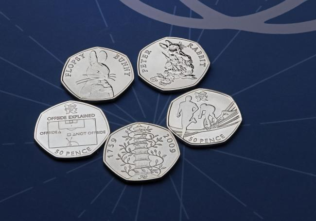 Ten of the rarest 50p coins, as the Royal Mint celebrates 50 years since the 50p went into circulation