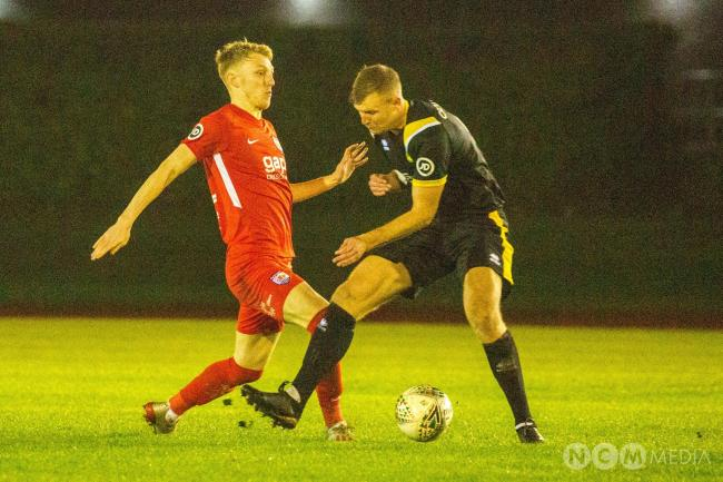 Action from Caernarfon Town's defeat at Connah's Quay Nomads (Photo by Nikitas Mesney)