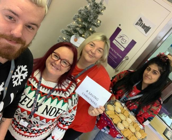 Staff at Cambrian Credit Union in North Wales donned their Christmas jumpers to highlight a serious message
