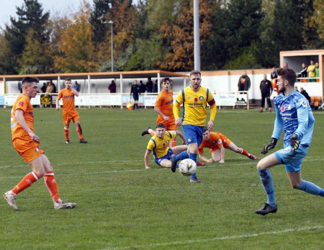 Craig Whelan in action for Conwy Borough