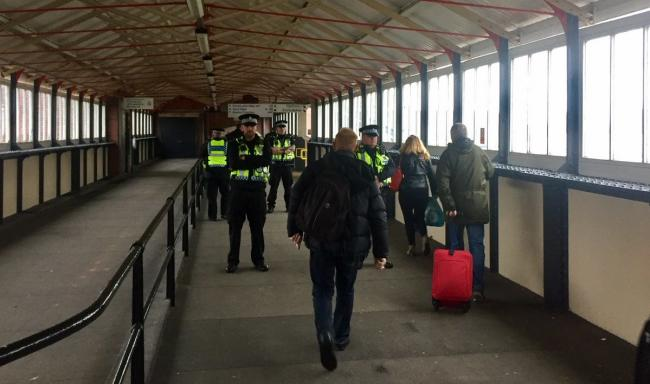 BTP North Wales intercepting passengers