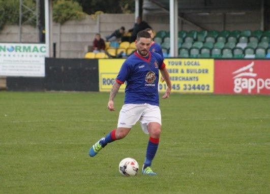 Iwan Williams in action for Bangor 1876 (Photo by Kev Owen)