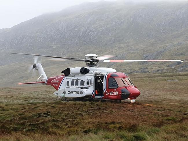 The Coastguard Helicopter was also on hand.