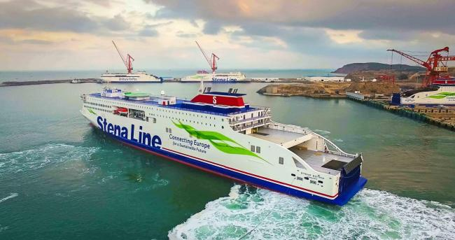 BON VOYAGE:  Stena Line's newest ferry Stena Estrid departs the AVIC Weihai Shipyard in north-western China, bound for its new home on the Irish Sea between Ireland and Britain. Manned by a much-reduced crew of 27, with no passengers on board, the s