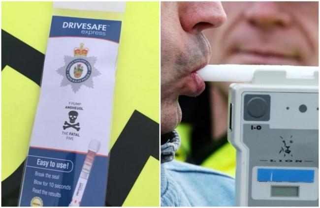 North Wales Police breath test