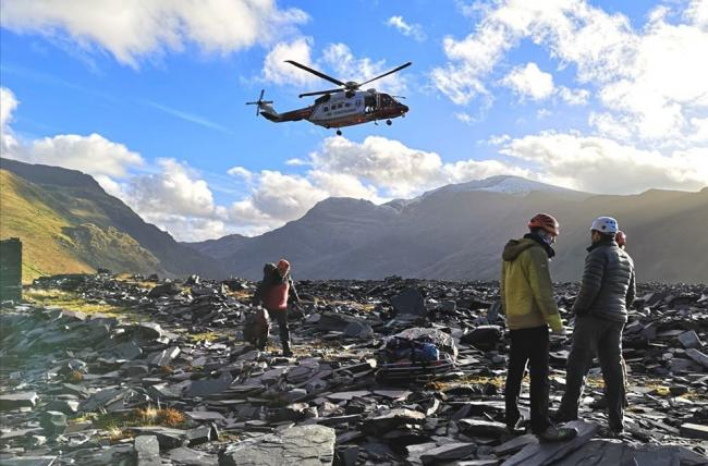 Llanberis Mountain Rescue Team in action.