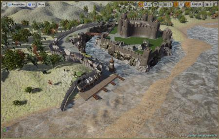 Rhuddlan Castle as featured in game. PICTURE: Skjold Game Studios.
