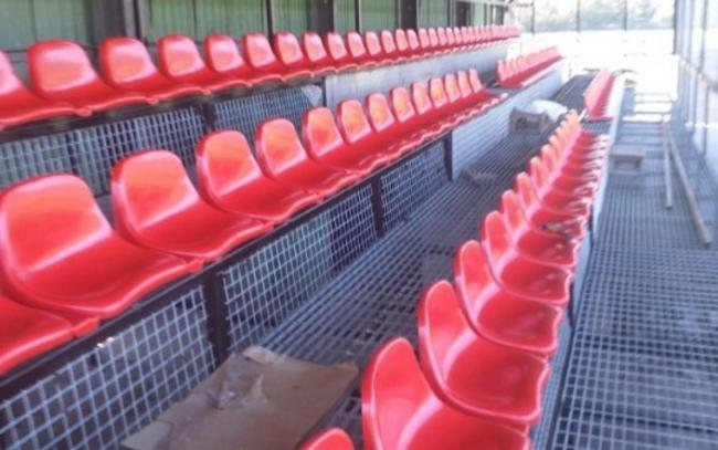 The new seating at Llanrwst United