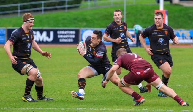 RGC fly-half Billy McBryde in action (Photo by Tony Bale)