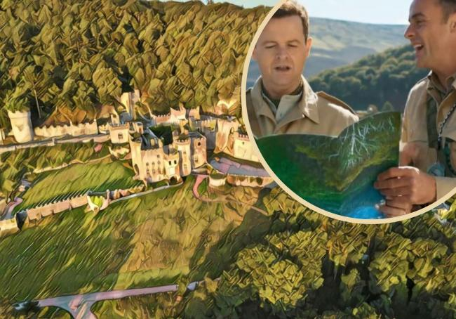 3D of Gwrych Castle and presenters Ant and Dec who feature in new promo for the show. Pictures: Gwrych Castle / Facebook and ITV