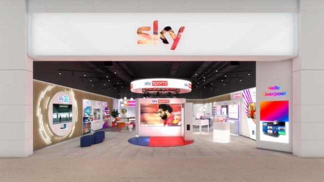 Sky to open several retail shops to UK high streets 'within the next year'. Pictures: Sky