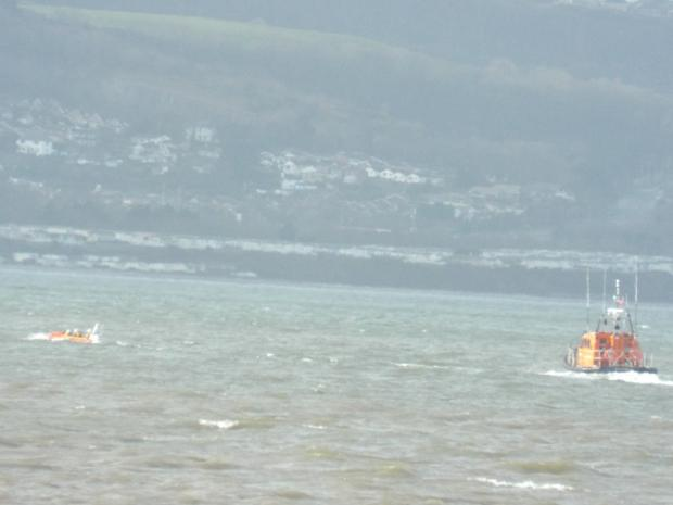 North Wales Chronicle: The search for missing boat continues. Picture: Luw Jones