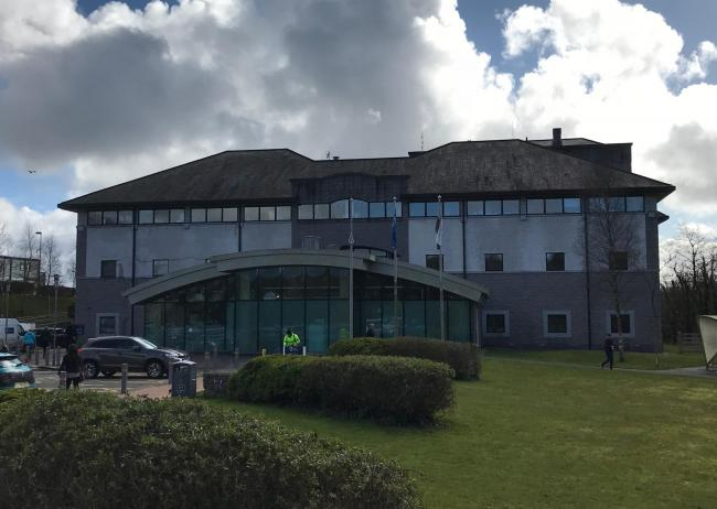 Anglesey Council Headquarters in Llangefni. Taken by reporter, free to use by all BBC partners.
