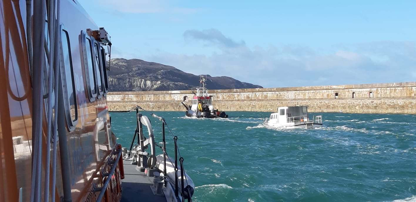 Photos taken by Holyhead crewmen Ronnie Roberts and Russ Clarke.