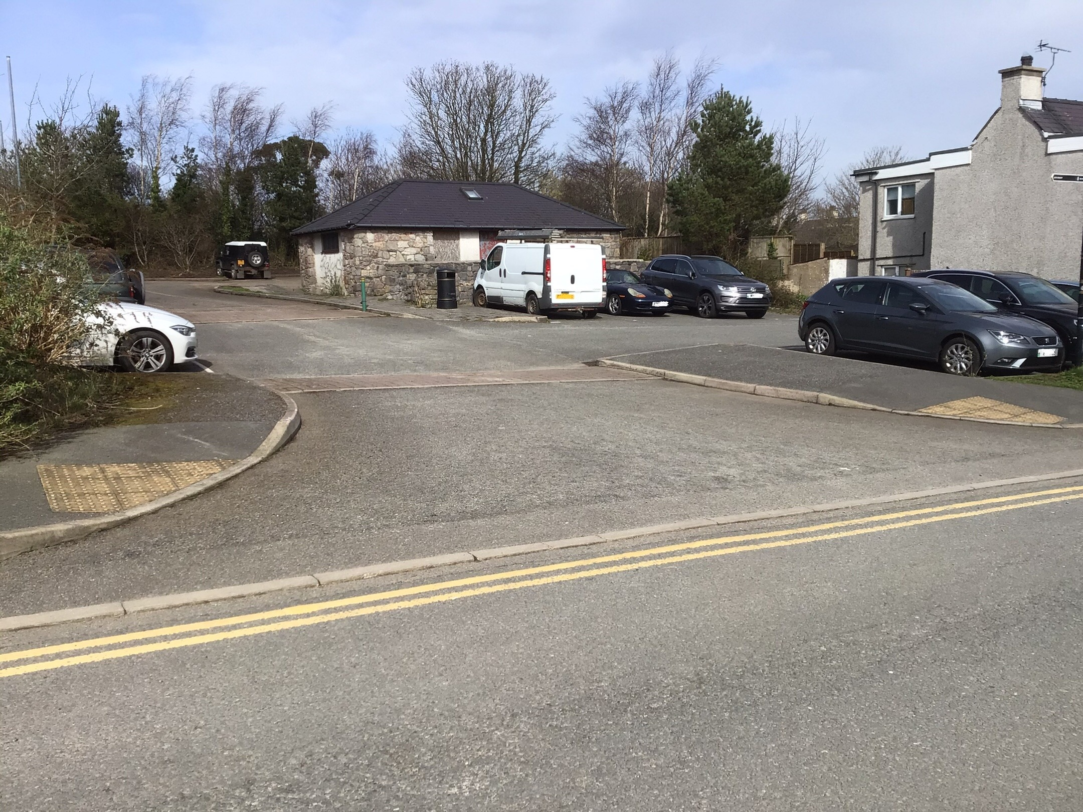 The former public toilets and car park, which Anglesey Council says will be available for locals once the new experimental yellow lines are in place. Taken by reporter, free to use by all LDRS partners.
