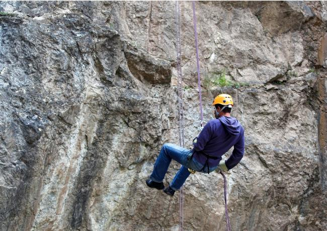 The Anglesey cliffs to be abseiled in the daring charity challenge.