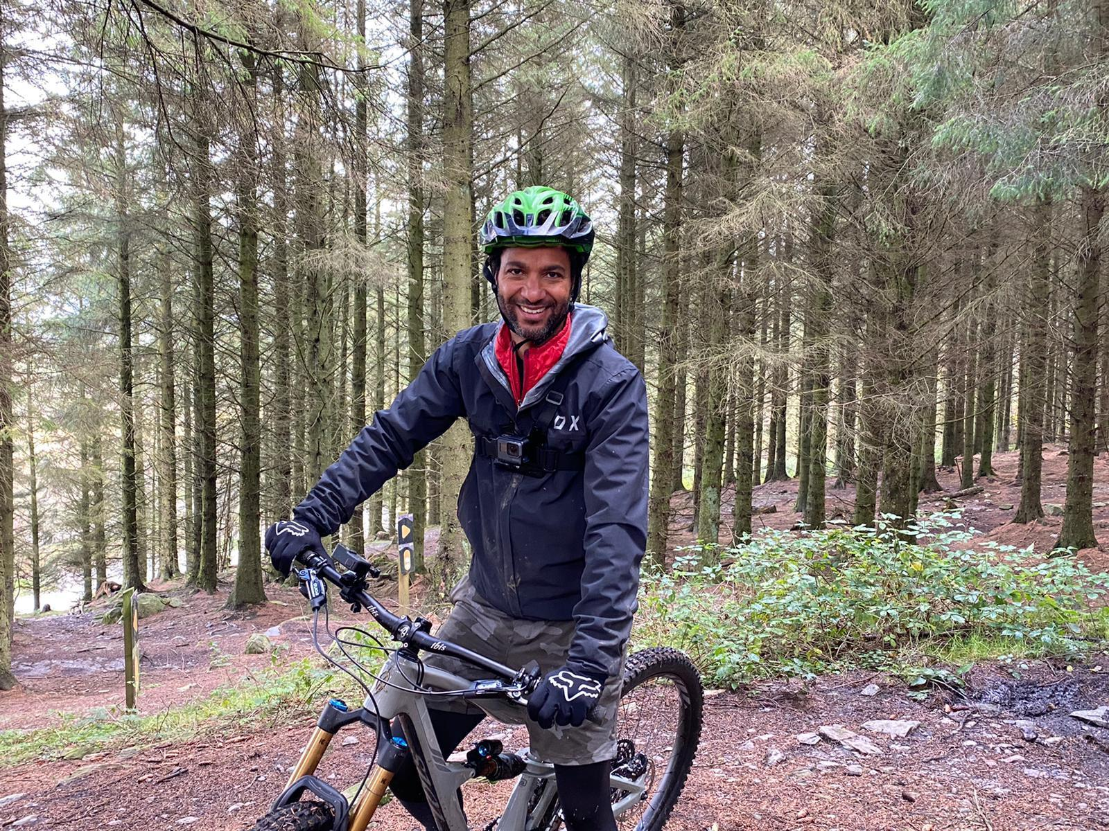 Sean tries out mountain biking in the Llandegla forest