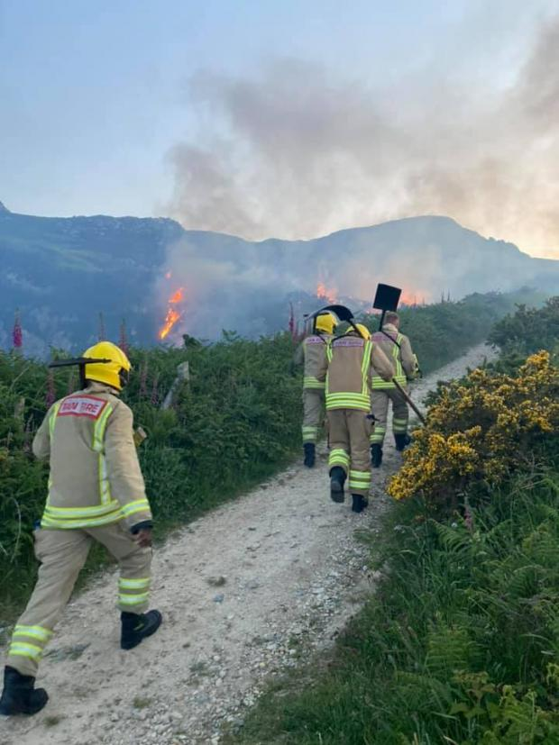 North Wales Chronicle: Holyhead Mountain fire. Picture: Jordan Love