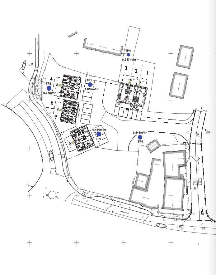 Plans for new homes on the former Burgess Site in Llangefni. Screengrab from planning documents.