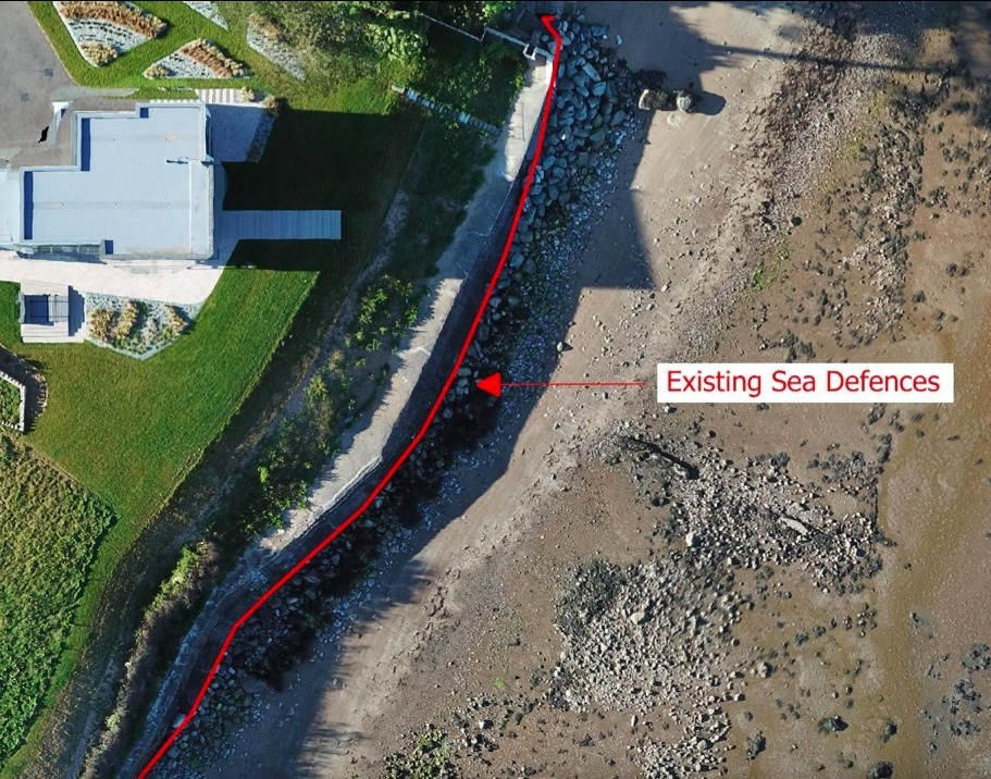Wednesday (September 1) will see Anglesey Council\s Planning Committee debate the plans which would replace parts of theexisting concrete sea defence which defends Cerrig, a 2018-built private property in Penmon. Screengrab from planning