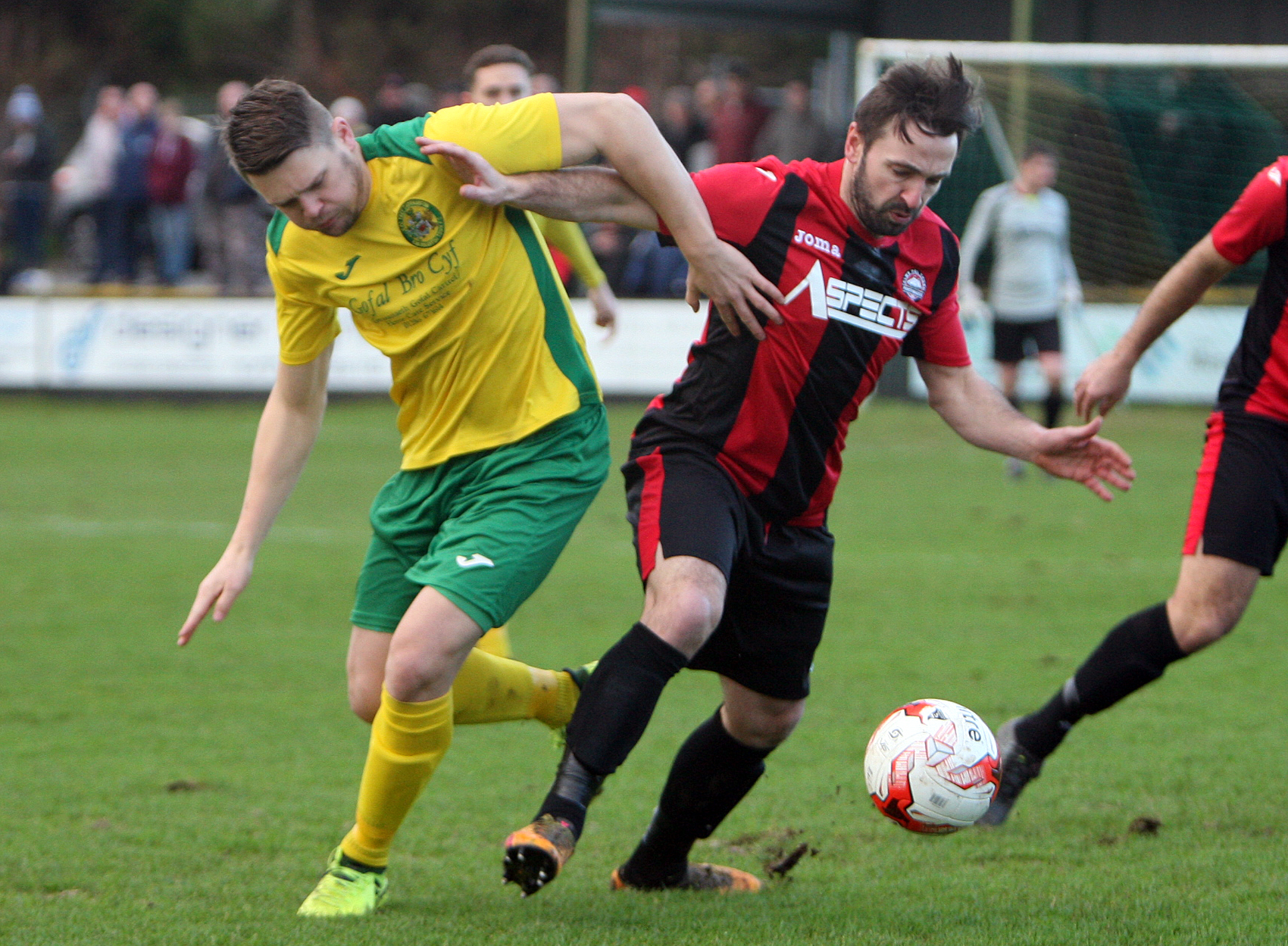 Jamie Breese was on target for Caernarfon Town