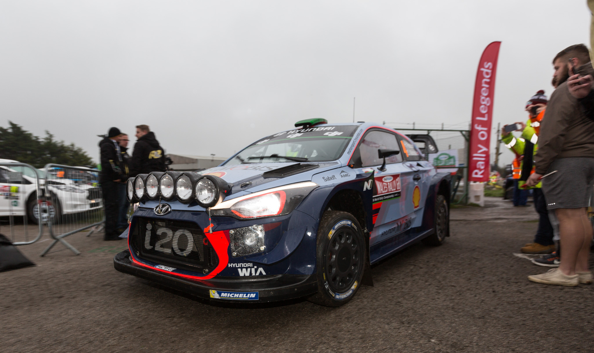 The WRC cars arrive at Tir Prince Raceway - DJW261017