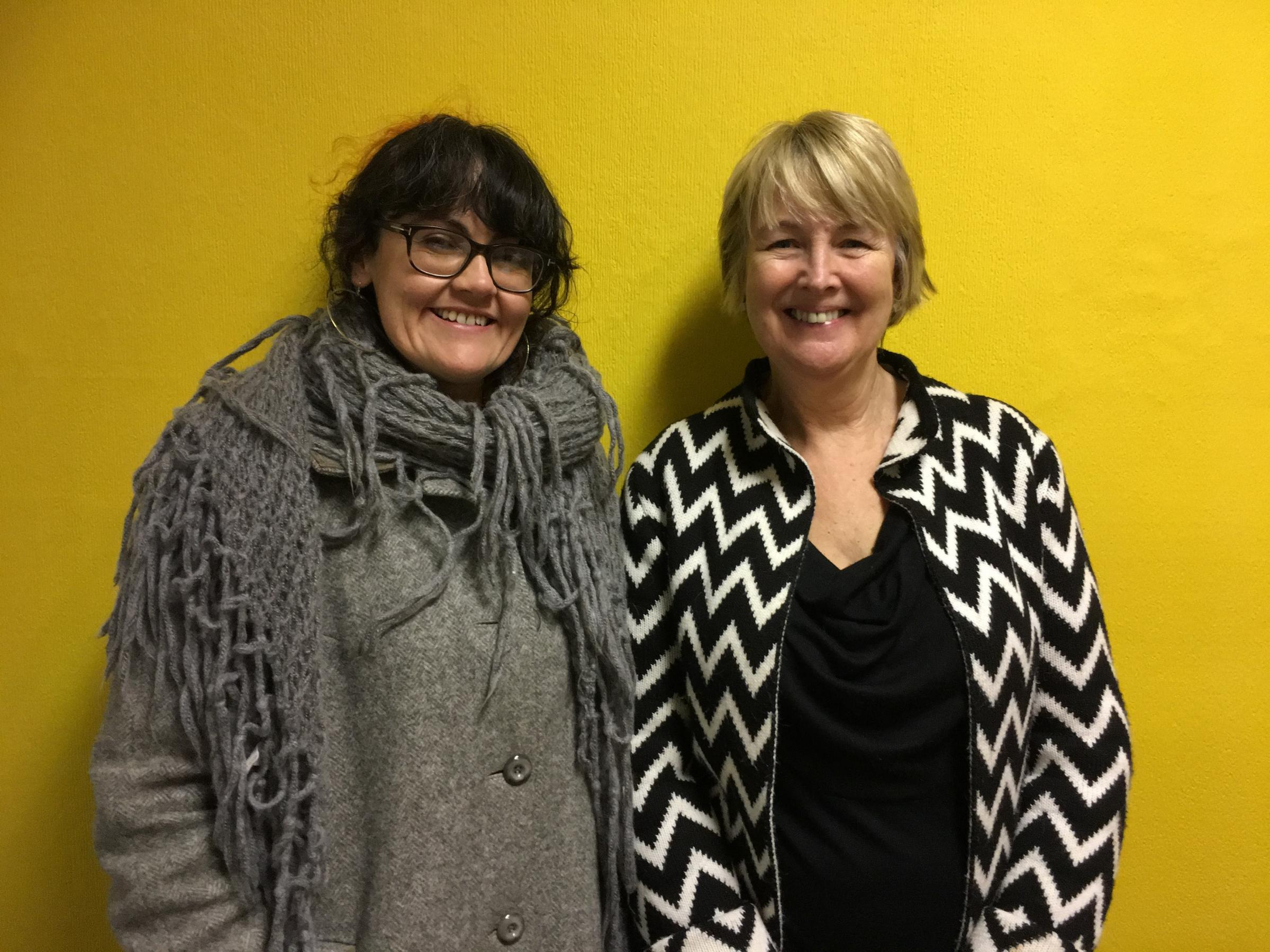 Councillor Catrin Wager and Arfon Assembly Member, Siân Gwenllian in a recent meeting to discuss problems of rough sleeping in Bangor
