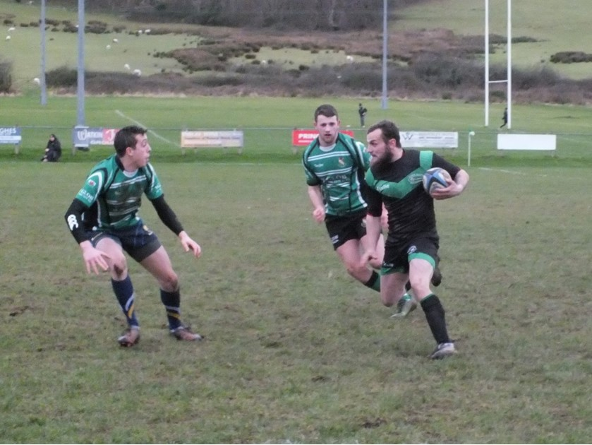 Action from Bangor's dominant win over Abergele