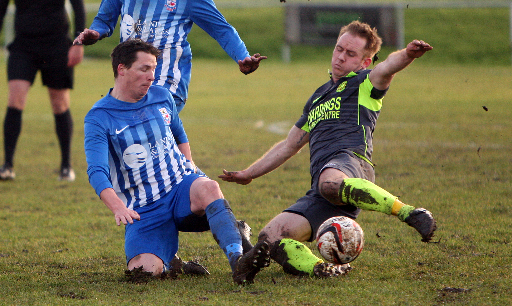 Action from Holyhead Hotspur's defeat to Guilsfield (Photo: Richard Birch)