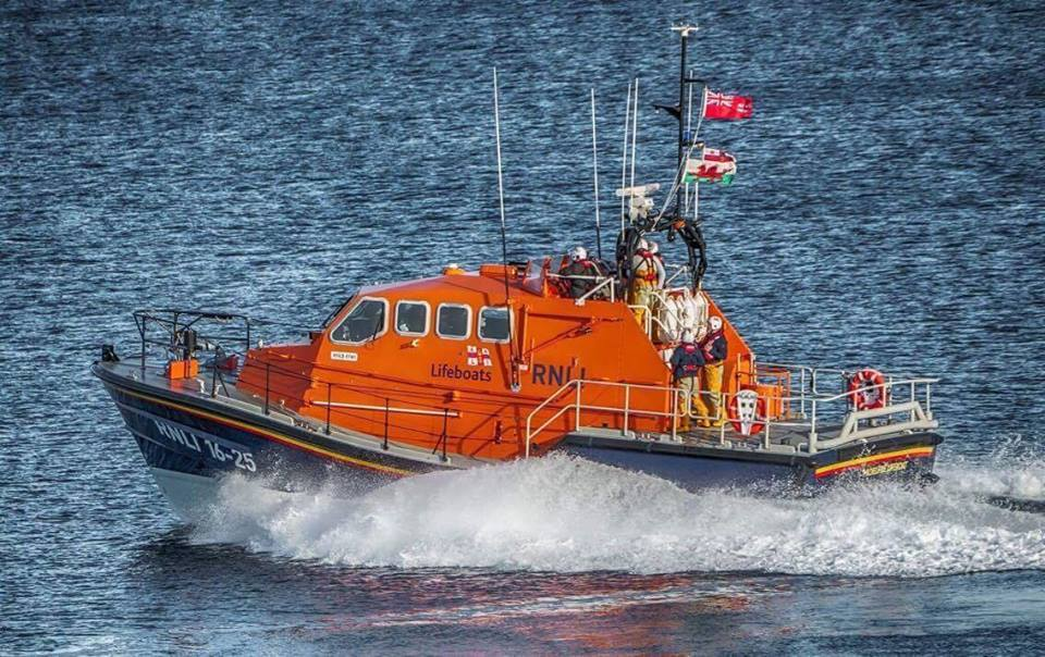 One of the lifeboat's from Moelfre RNLI's station. PICTURE: Moelfre RNLI