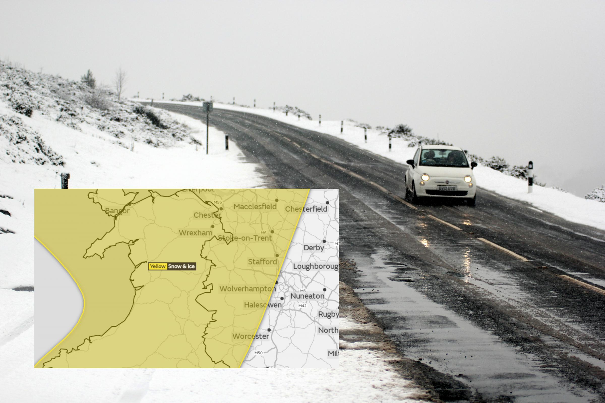 Snow could hit our region as Met Office make warning for Monday, Tuesday and Wednesday (graphic, inset)