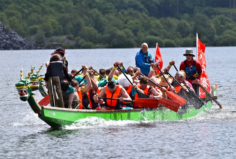 Last year's Dragon Boat event. PICTURE: St. David's Hospice