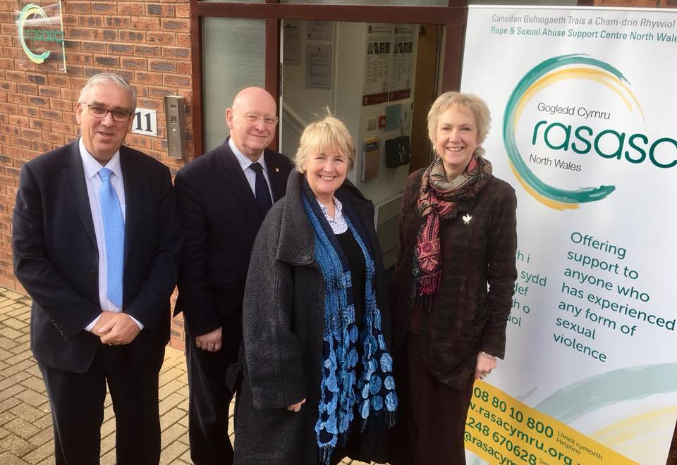 Arfon Jones, Hywel Williams MP, Sian Gwenllian and Non Williams at the opening of the new RASASC NW Centre in Bangor