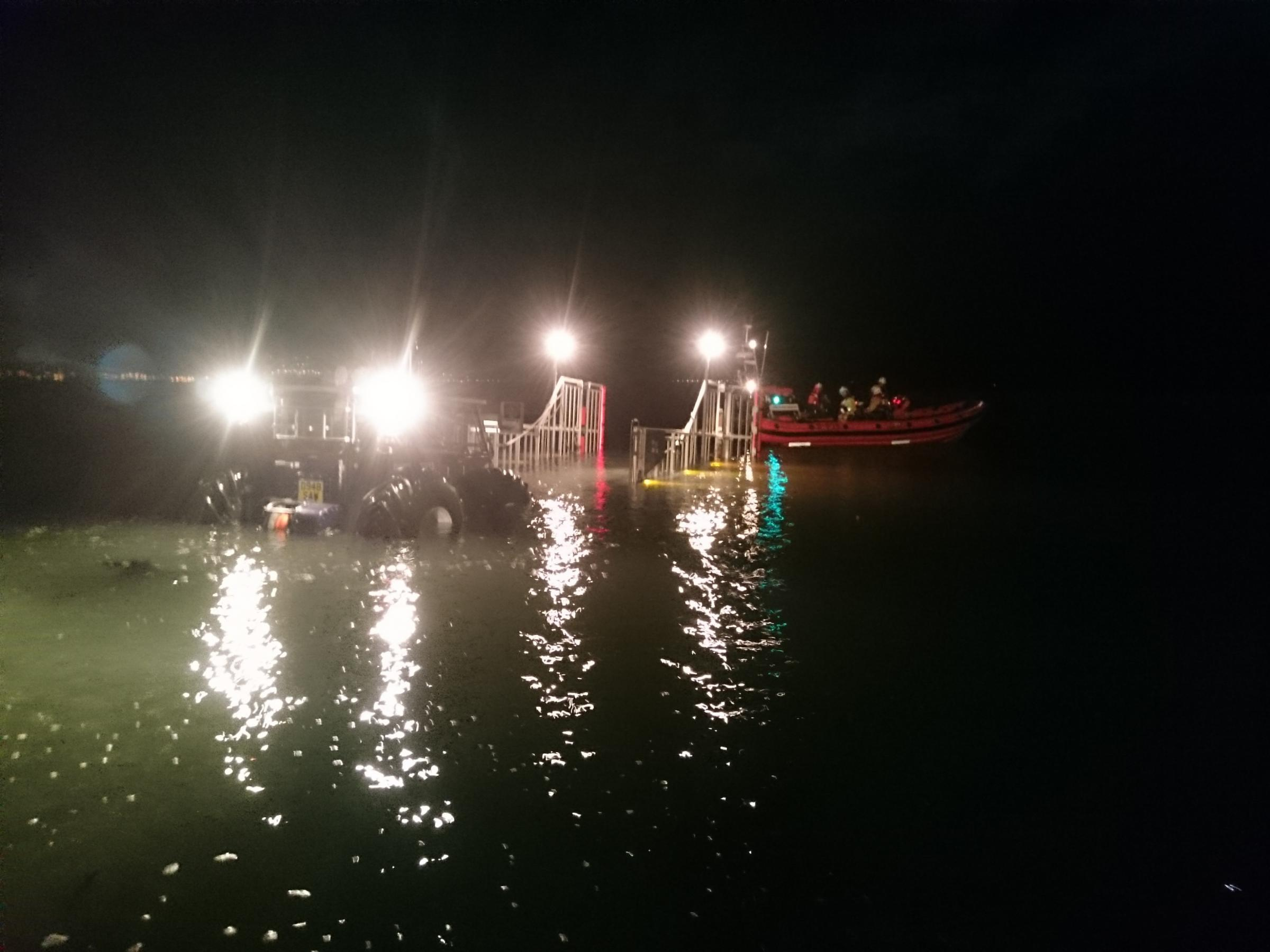 Beaumaris lifeboat late night rescue