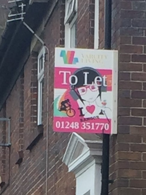'To Let' sign in Bangor which could be removed soon. PICTURE: Arron Evans