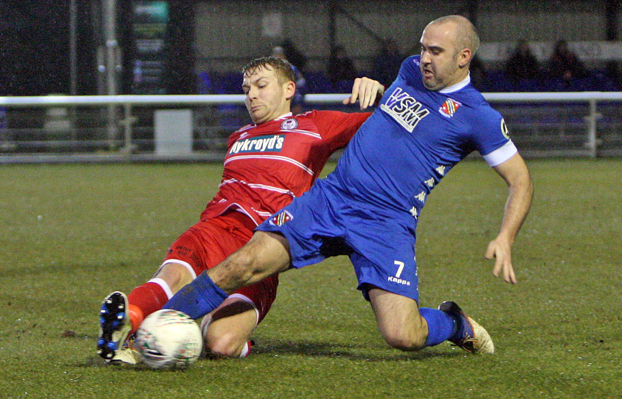 Action from Bangor City's defeat at Bala Town (Photo: Richard Birch)