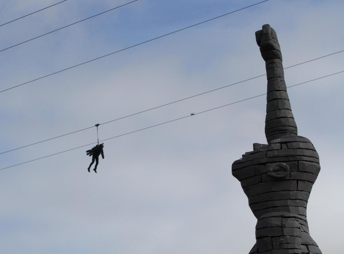 Zip World: Man rides world\'s fastest zip-line in north Wales in ...