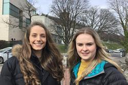 Lilly Stokes and Hannah Davies. PICTURE: Bangor University.