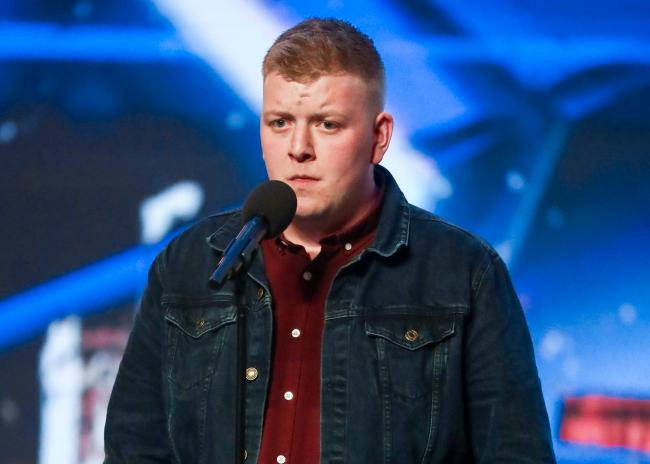 Gruffydd Wyn Roberts during the audition stage for Britain's Got Talent. Picture: Tom Dymond/Syco/Thames ITV/PA