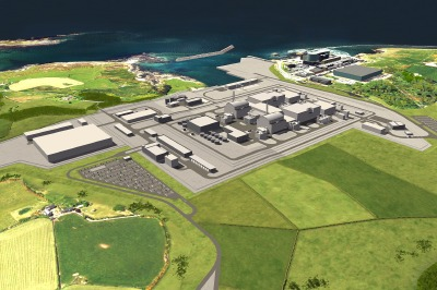 Artist's impression of how Wylfa Newydd could look once completed.